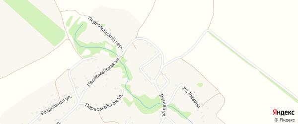 Ратный переулок на карте Курского села с номерами домов