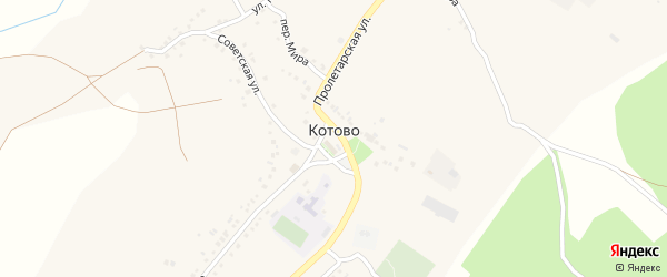 Острогожская улица на карте села Котово с номерами домов