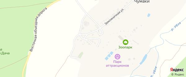 Переулок Золотой фазан на карте хутора Чумаки с номерами домов