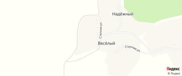 Полевая улица на карте Надежного хутора с номерами домов