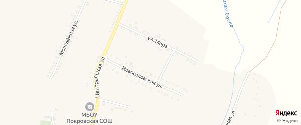 Слободской переулок на карте села Покровки с номерами домов