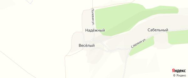 Карта Надежного хутора в Белгородской области с улицами и номерами домов