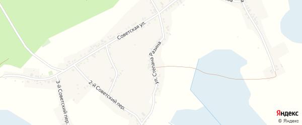 Улица Степана Разина на карте Двулучного села с номерами домов