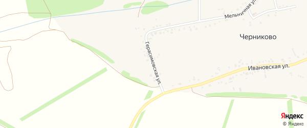 Герасимовская улица на карте села Черниково с номерами домов