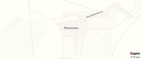 Карта хутора Малиново в Белгородской области с улицами и номерами домов