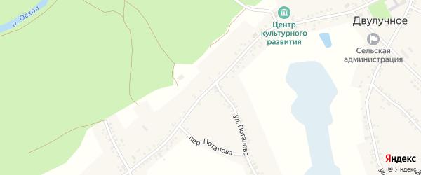 Советская улица на карте Двулучного села с номерами домов
