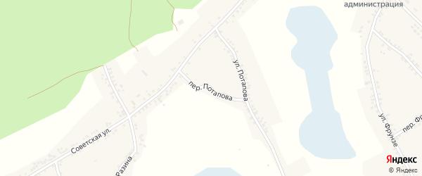 Переулок Потапова на карте Двулучного села с номерами домов