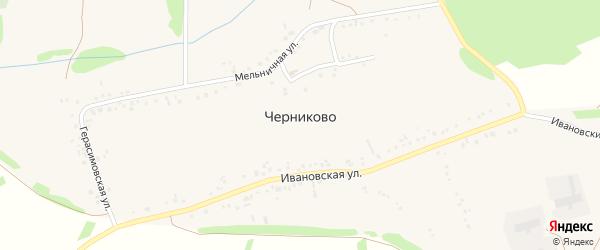 Герасимовский переулок на карте села Черниково с номерами домов