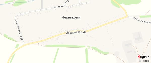 Ивановская улица на карте села Черниково с номерами домов