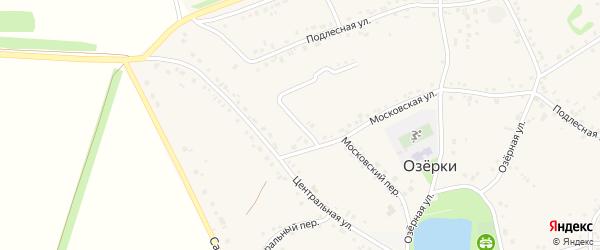 Подлесный переулок на карте села Озерки с номерами домов