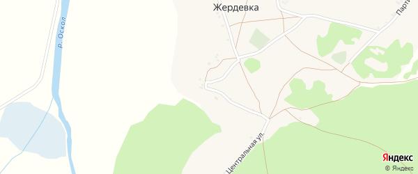 Центральная улица на карте хутора Жердевки с номерами домов