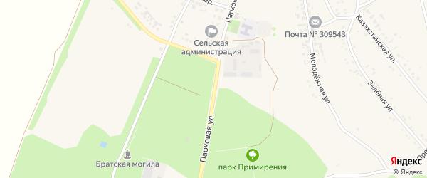 Парковая улица на карте села Озерки с номерами домов