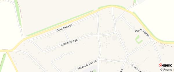 Подлесная улица на карте села Озерки с номерами домов