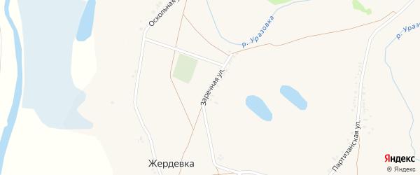 Заречная улица на карте поселка Уразово с номерами домов