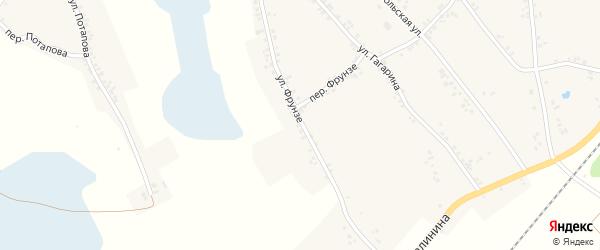 Улица Фрунзе на карте Двулучного села с номерами домов