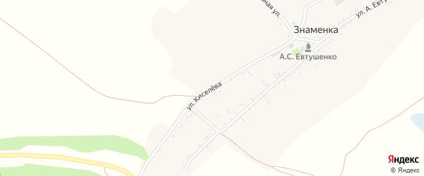 Улица им Л.Киселева на карте села Знаменки с номерами домов