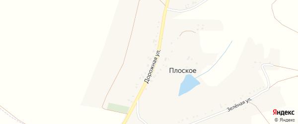 Зеленая улица на карте хутора Плоского с номерами домов