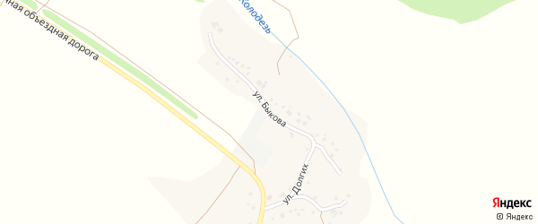 Улица Быкова на карте села Бочаровки с номерами домов