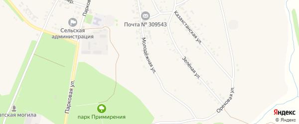 Молодежная улица на карте села Озерки с номерами домов