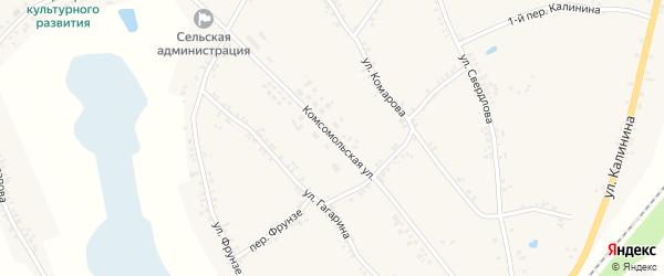 Комсомольская улица на карте Двулучного села с номерами домов
