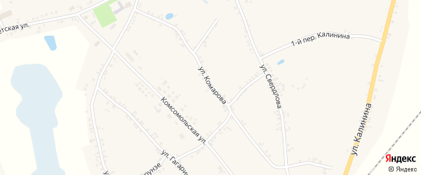 Улица Комарова на карте Двулучного села с номерами домов
