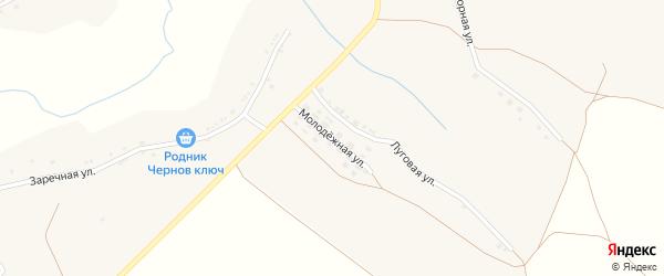 Молодежная улица на карте села Шараповки с номерами домов