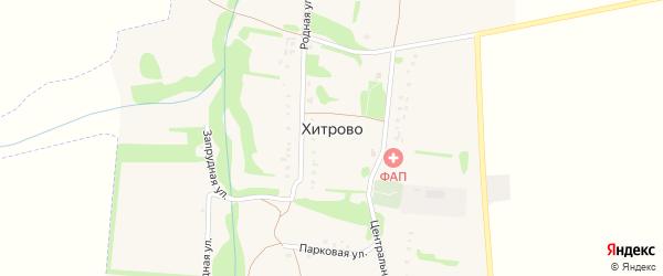 Запрудная улица на карте села Хитрово с номерами домов