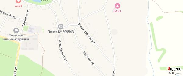Казахстанская улица на карте села Озерки с номерами домов