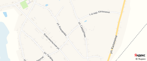 Переулок 2-й Калинина на карте Двулучного села с номерами домов