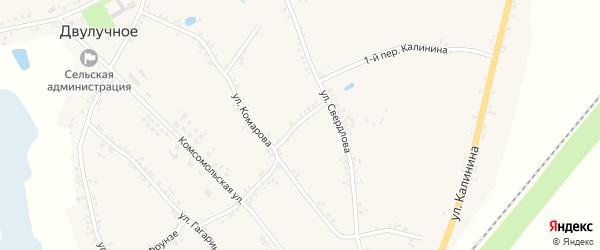 Переулок 2-й Комарова на карте Двулучного села с номерами домов