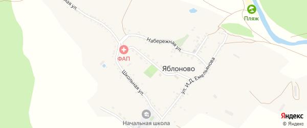 Молодежная улица на карте села Яблоново с номерами домов