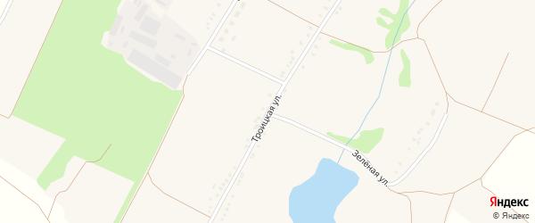 Троицкая улица на карте Малотроицкого села с номерами домов