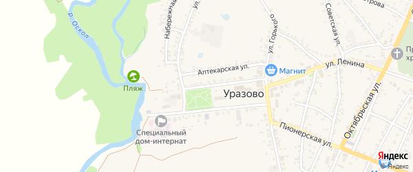 Улица Красная площадь на карте поселка Уразово с номерами домов