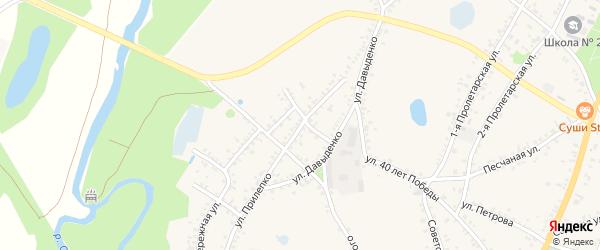 Улица Прилепко на карте поселка Уразово с номерами домов