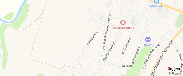 Луговая улица на карте поселка Уразово с номерами домов