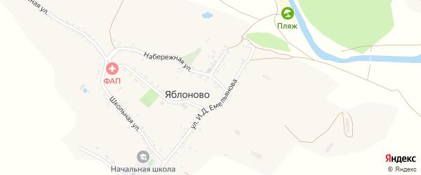 Переулок Бусловского на карте села Яблоново с номерами домов
