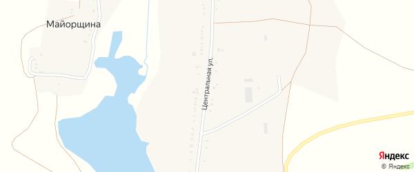 Центральная улица на карте села Шараповки с номерами домов