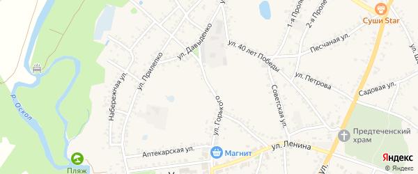 Улица Горького на карте поселка Уразово с номерами домов