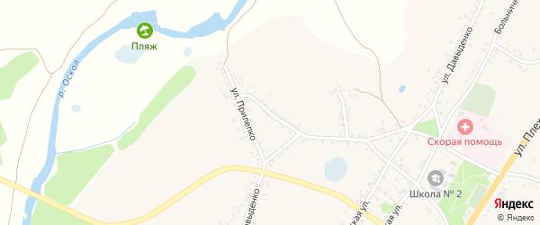 Коммунистическая улица на карте поселка Уразово с номерами домов