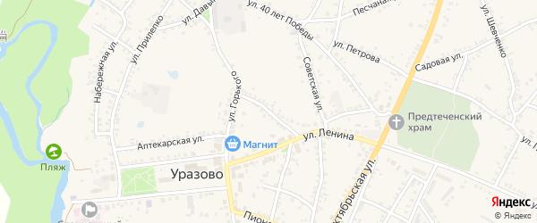 Гвардейская улица на карте поселка Уразово с номерами домов