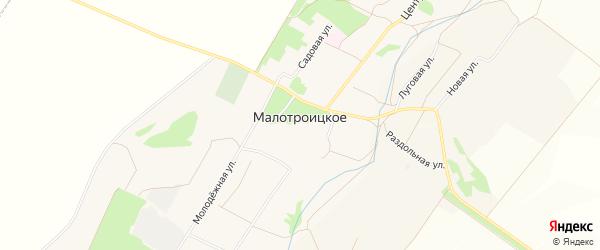 Карта Малотроицкого села в Белгородской области с улицами и номерами домов