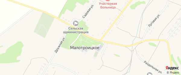Школьная улица на карте Малотроицкого села с номерами домов