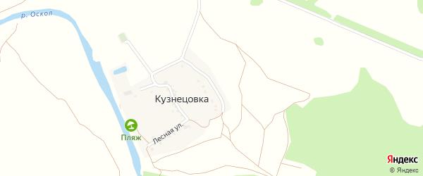 Полевой переулок на карте хутора Кузнецовки с номерами домов