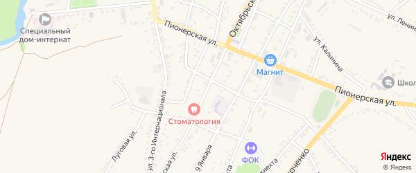 Октябрьская улица на карте поселка Уразово с номерами домов