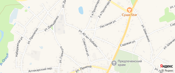 Улица 40 лет Победы на карте поселка Уразово с номерами домов