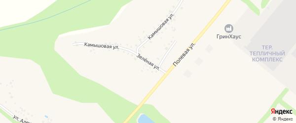 Зеленая улица на карте села Терехово с номерами домов