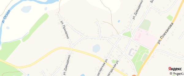 Улица Давыденко на карте поселка Уразово с номерами домов