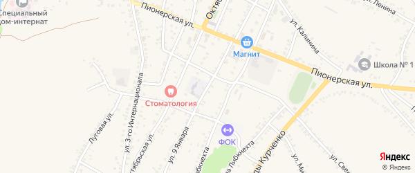 Улица 9 Января на карте поселка Уразово с номерами домов