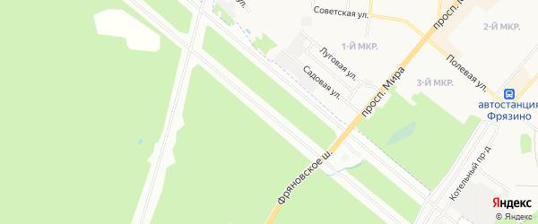 Карта садового некоммерческого товарищества Проектировщика города Майкопа в Адыгее с улицами и номерами домов