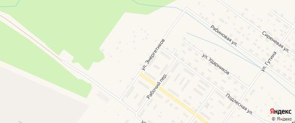 Рабочий переулок на карте Онеги с номерами домов